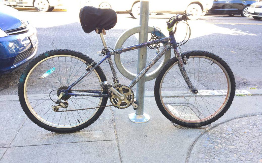 Zebra tape bike