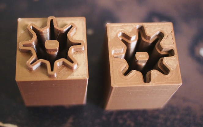 Pretty 3D-printed mold cavities