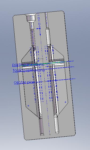 CAD mold cavity drawing