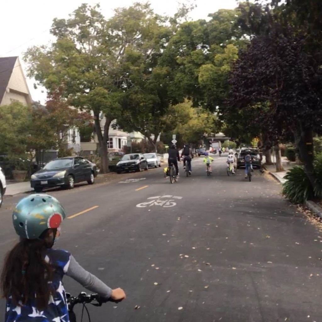 Biking on the Shafter Ave Slow Streets in Oakland, CA